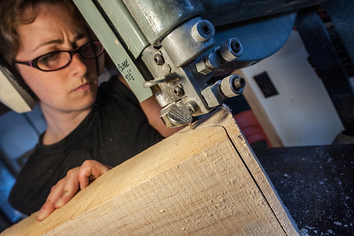 Tara Shaping Corble on a Bandsaw | by goingslowly