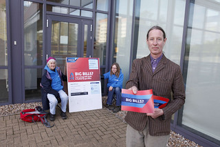 Activist outside Centrica HQ | by Greenpeace UK
