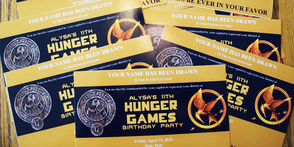 Hunger Games Party Invitations | Hunger Games Party Ideas an… | Flickr