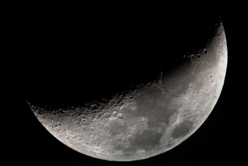 Waxing Crescent Moon - Canon 400mm f/5.6 + 1.4x & 2x TCs | by eoind
