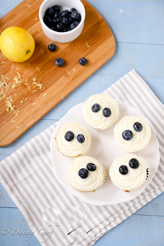 Lemon Blueberry Cupcakes | by daintychef