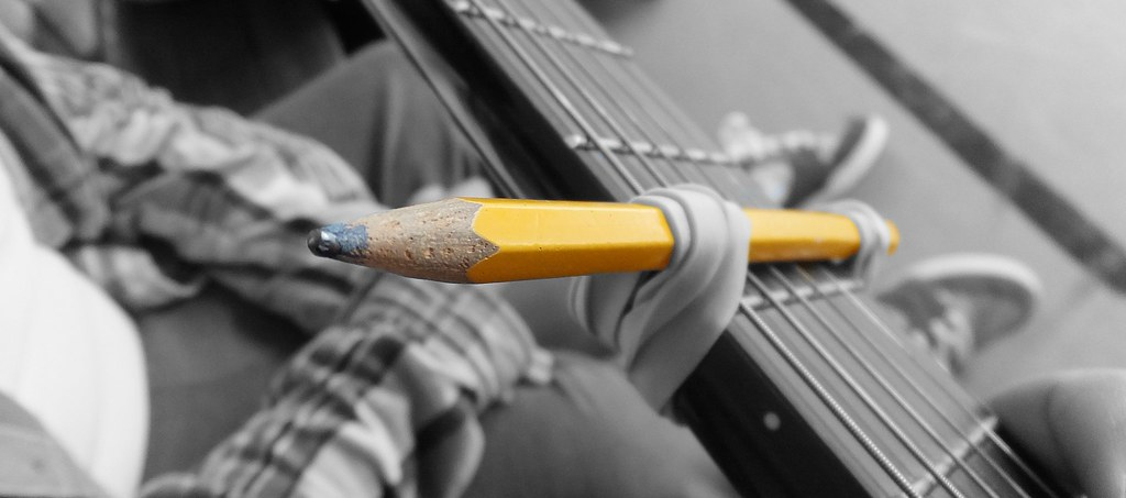 Yellow Pencil Diy Capo I Took This Photo When I Started Flickr