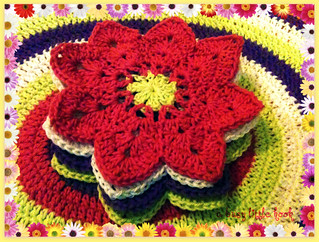 flower coasters | by a busy little hook