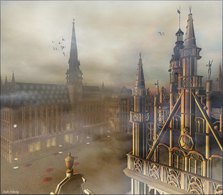 Misty Morning - Brussel Grand Place | by Sadie Johnsky
