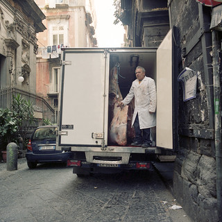 (A Door Opens: Butcher Caught by Surprise on a Meat Van) | by Robbie McIntosh
