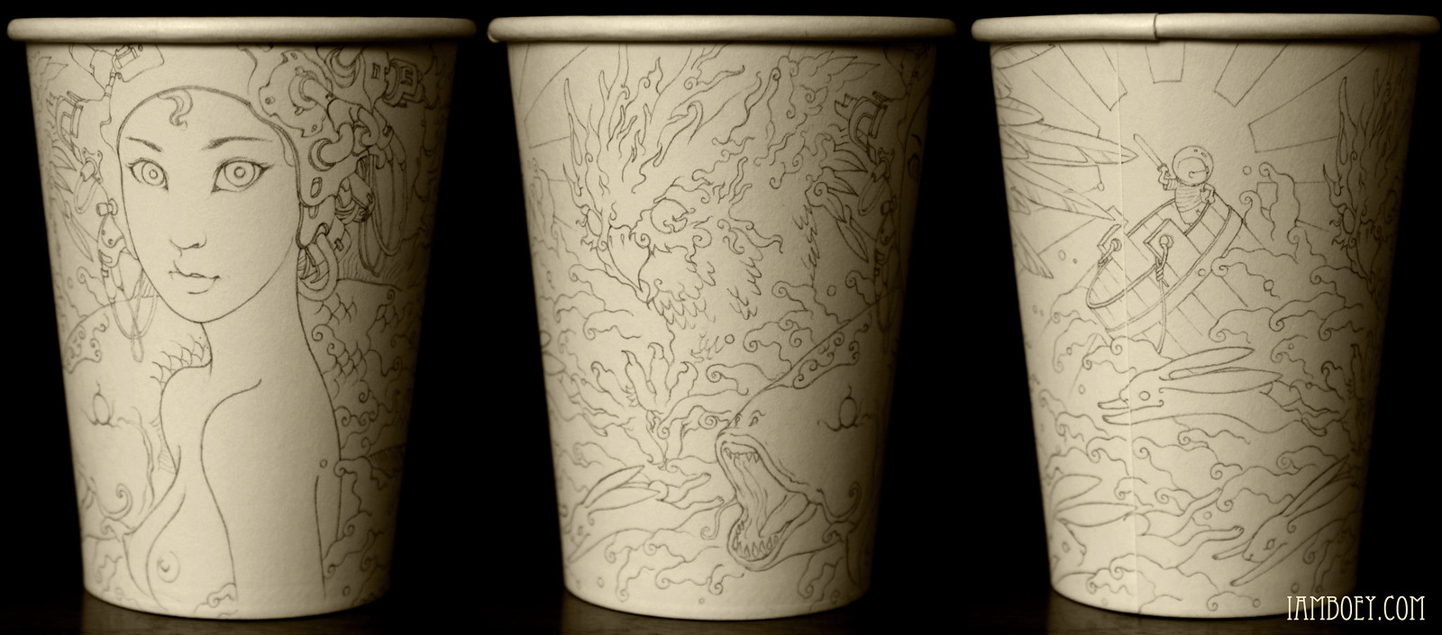 Image result for paper cup art