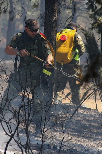 Greek civil defence teams dealing with the aftermath of a forest fire near Thessaloniki. | by Teacher Dude's BBQ