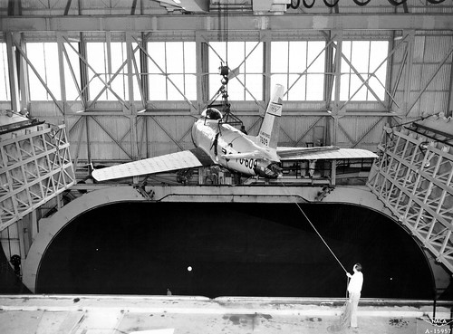 F-86 Lowered into Full Scale Tunnel at Ames | by NASA on The Commons