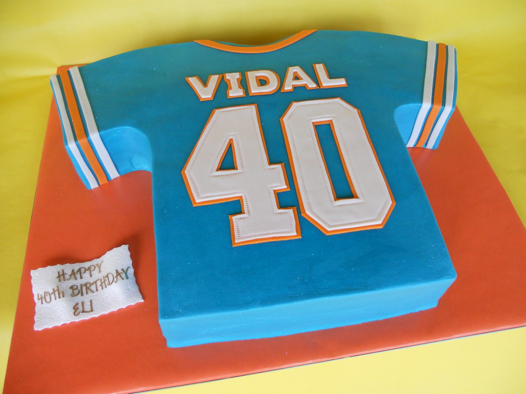 Miami Dolphins Jersey Cake Amy Stella Flickr