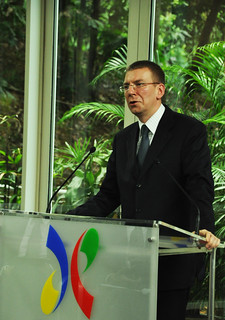 H.E. Mr Edgars Rinkēvičs, Minister of Foreign Affairs of Latvia speaking | by Asia-Europe Foundation