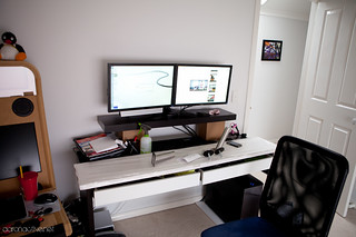 Ikea MICKE Desk Hack - The Prototype | by aaronactive.net