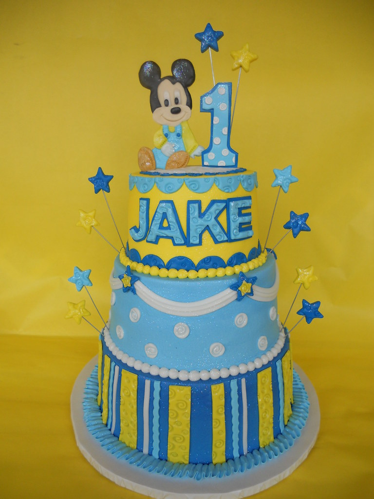 Baby Mickey 1st Birthday Cake Amy Stella Flickr