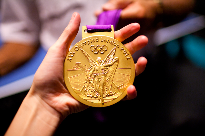 Olympic gold medals are heavy