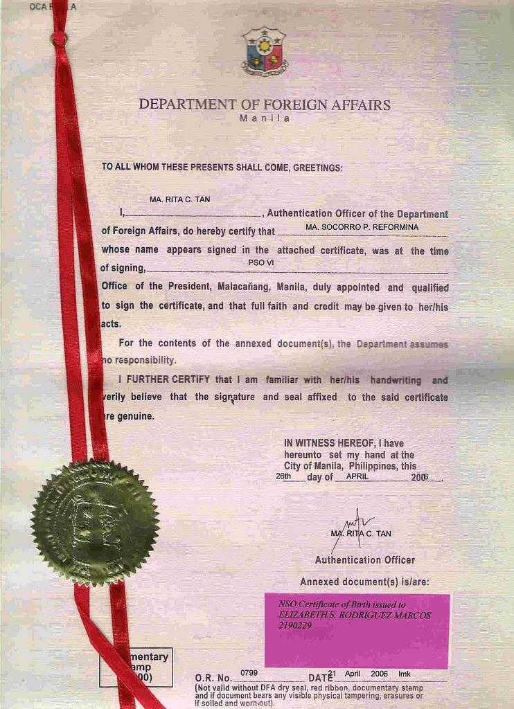 Scan Birth Certificate Dfa Office Of President Iboe Fraud Flickr