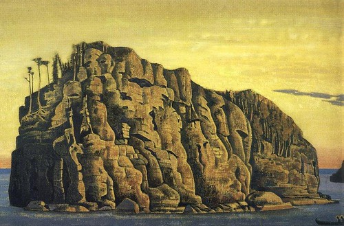 Roerich, Nicholas (1874-1947) - 1917 Holy Island (State Russian Museum, St. Petersburg, Russia) | by RasMarley