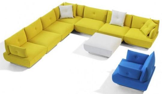 ... Modern Modular Sofa And Armchair With Flexible Design