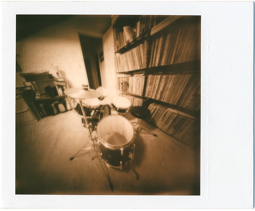Drumkit-20-Min-SSUV+ Impossible Project Pinhole | by adoephoto