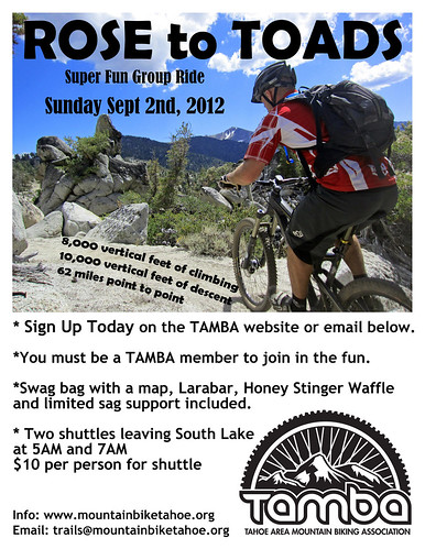 Flyer-2012 Rose to Toads | by TAMBA Tahoe