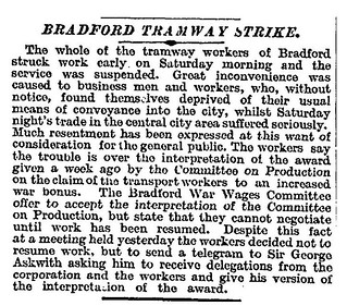 16th March 1918 - Tramway Strike, Bradford | by Bradford Timeline