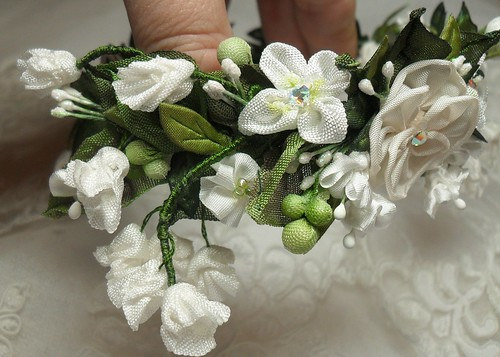ribbonwork wreath | by lambsandivydesigns.com