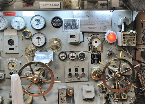 Throttle board, USS Midway, San Diego, California, April 10, 2012 | by Ivan S. Abrams
