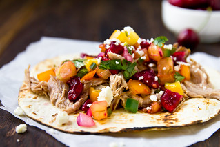 Pulled Pork Tacos with Cherry Salsa | by TheBrewer&TheBaker