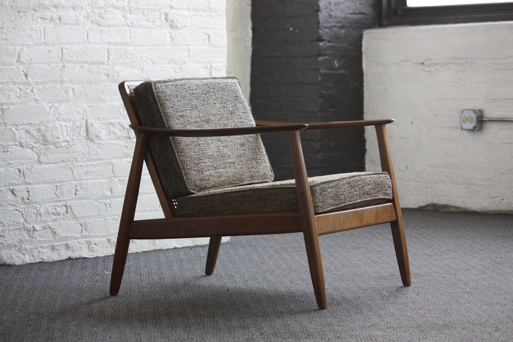 ... Exceptional Danish Mid Century Modern Dux Caned Back Lounge Chair  (Denmark, 1950u0027s) |