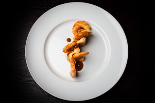 Shrimp, crispy masa, sea urchin mousse 04 | by Gilt Taste Plates