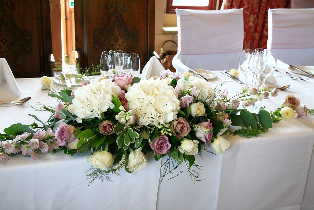 Wedding Flowers Venue Head Table Decoration Wedding Flow Flickr