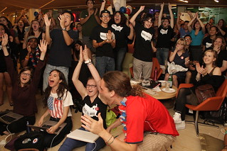 USF watches and reacts to the re-election of President Barack Obama | by sffoghorn
