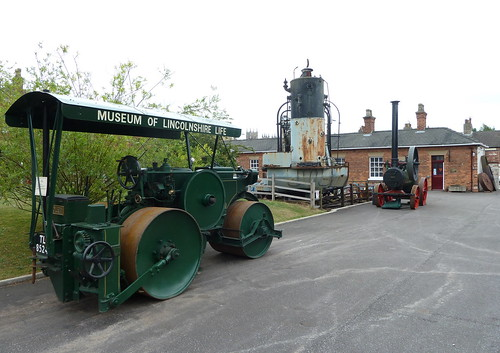 'Violet' Aveling-Barford AD670  DX6 TL 8524 Diesel Road Roller,  Ruston Proctor Steam Navvy No 306 and 'Harriet' Marshall portable engine 30169 of 1898 Museum of Lincolnshire Life Lincoln | by woodytyke