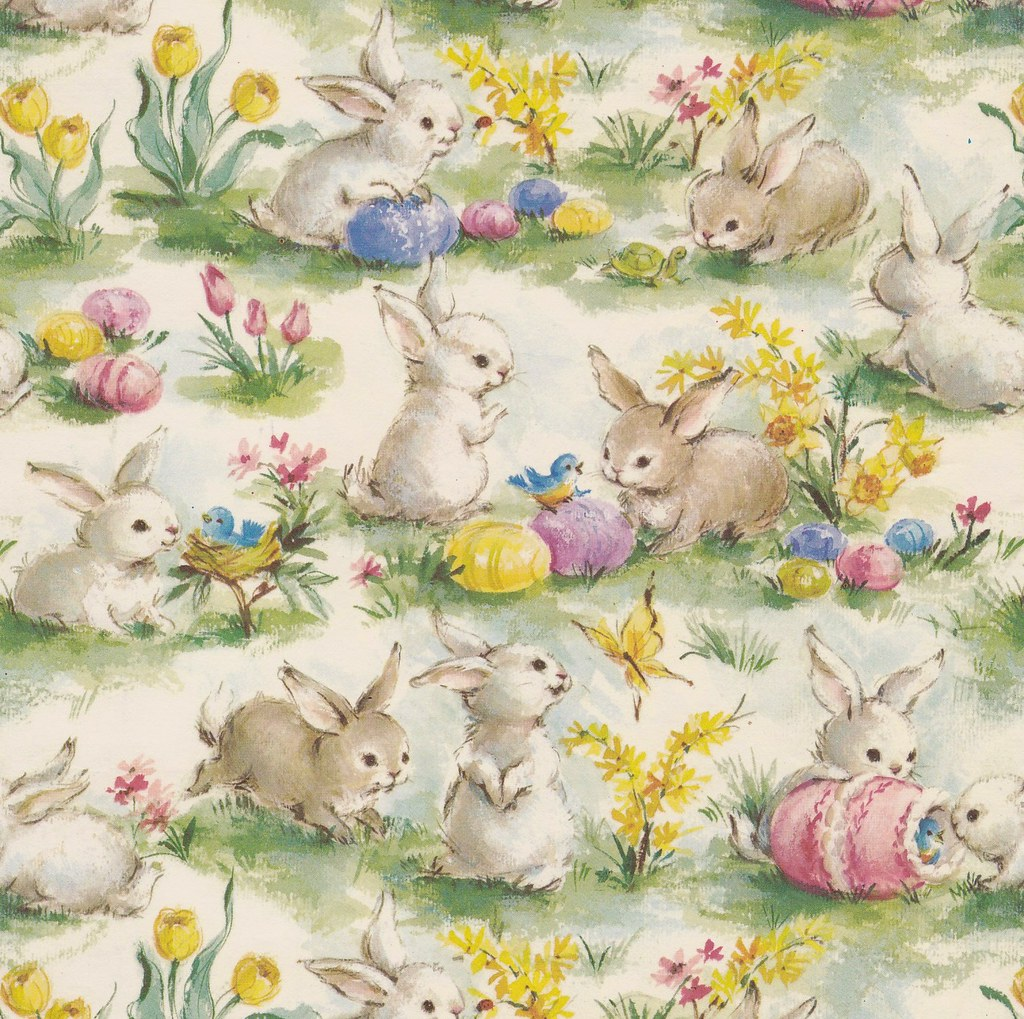 Vintage gift wrap easter bunnies manufacturer unknown heather vintage gift wrap easter bunnies by hmdavid negle Choice Image