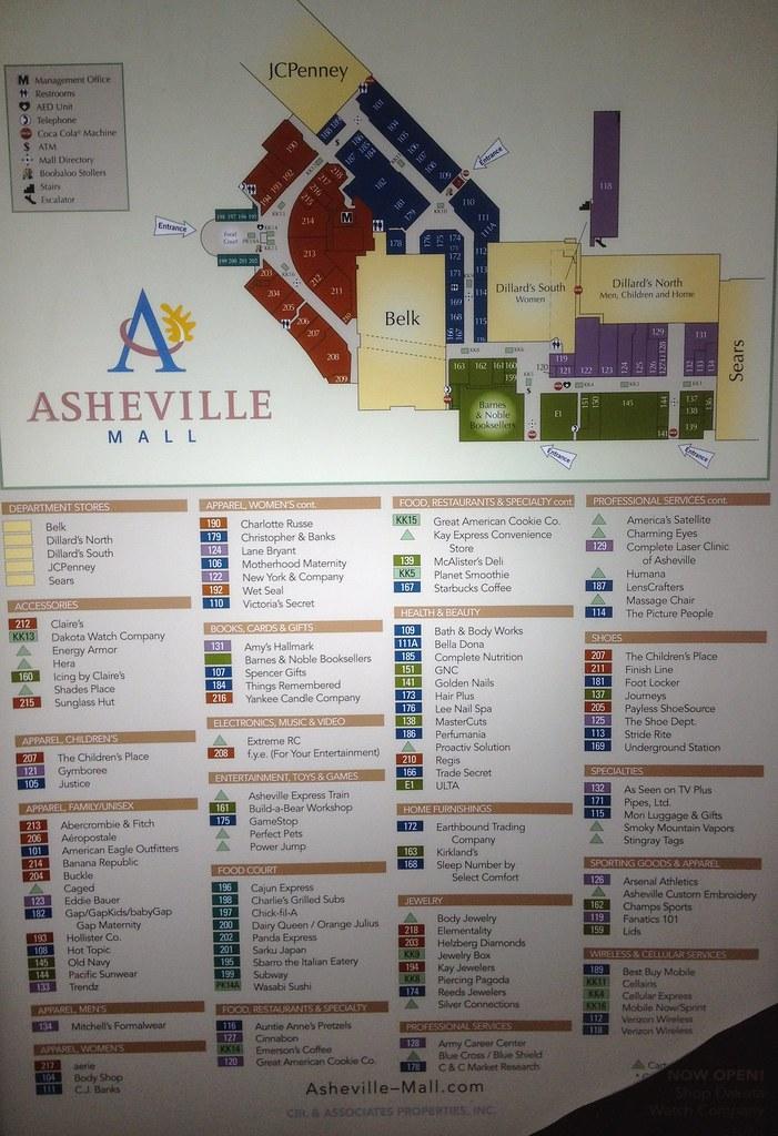 Asheville Mall Map Asheville Mall Directory | Mike Kalasnik | Flickr Asheville Mall Map