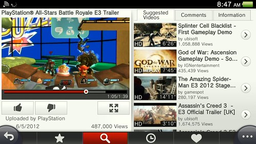 YouTube for PS Vita | by PlayStation.Blog