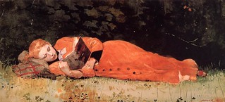 Winslow Homer 'The New Novel' 1877 | by Plum leaves
