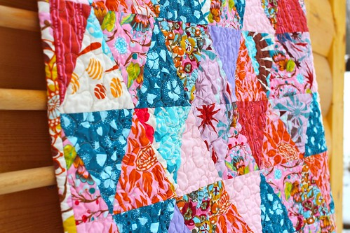 Anna Maria Horner Triangles Baby Quilt | by CoraQuilts~Carla