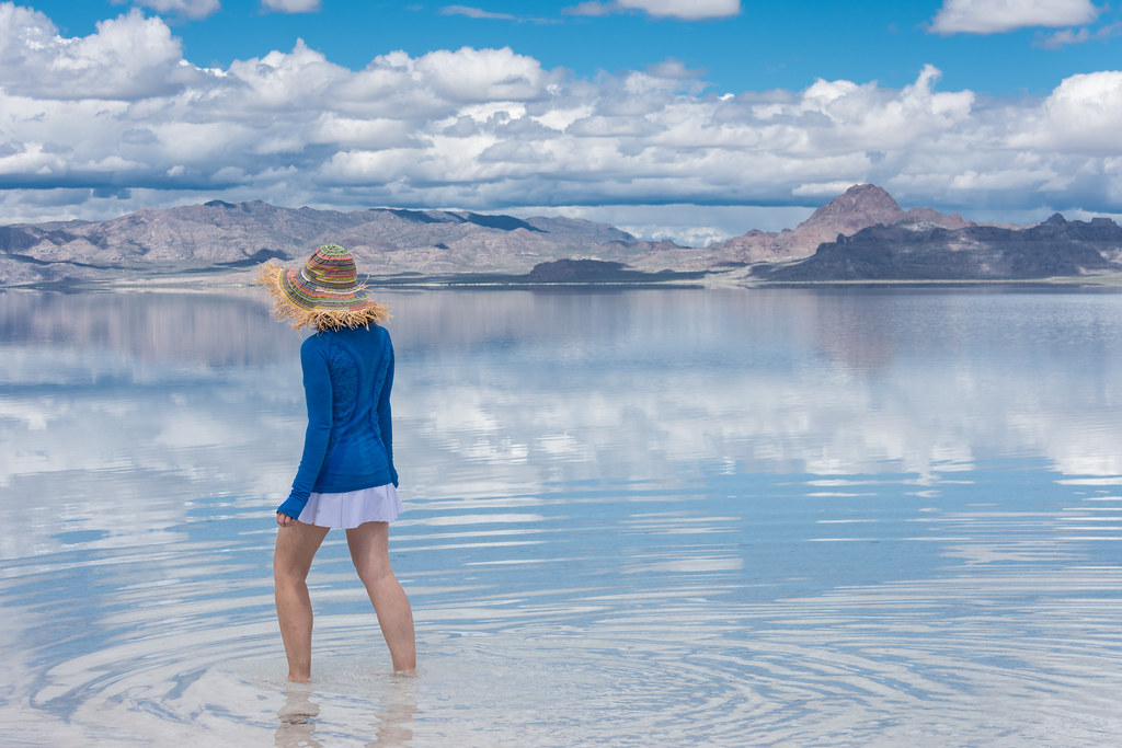 Walking in the water at the Bonneville Salt Flats - Utah | Flickr