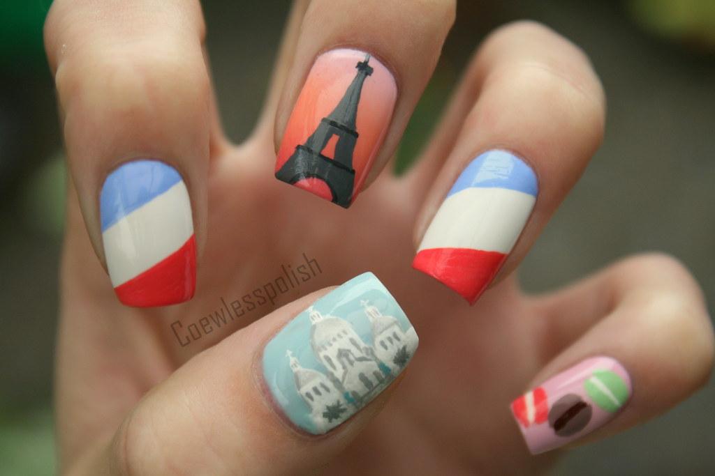 Paris nail art   My third design in my Big City series. This…   Flickr