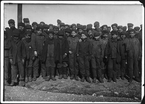 Group of boys working in #9 breaker. In this group were Sam Belloma, Angelo Ross, and others. Hughestown Boroughs Pa. Coal Co. Pittston, Pa, January 1911 | by The U.S. National Archives