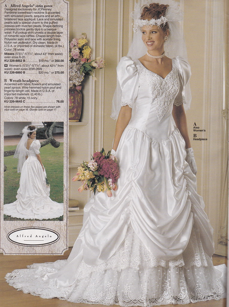 From a mid 90\'s JC Penney Bridal catalog | A very pretty gow… | Flickr