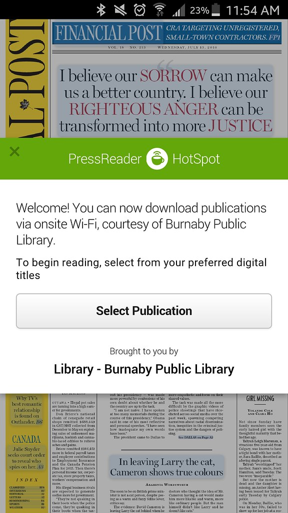 2016-Jul-13 PressReader at Burnaby Public Library
