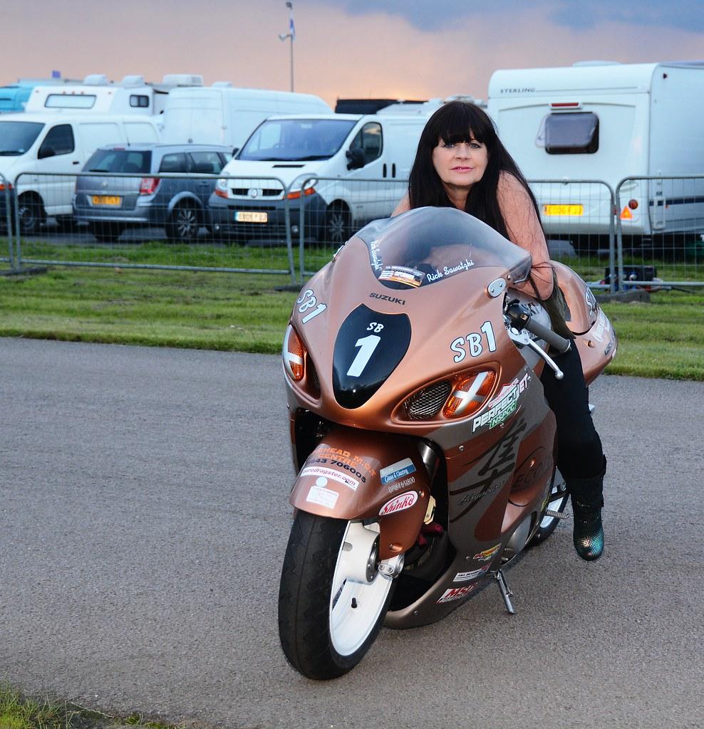 Hot brunette biker milf