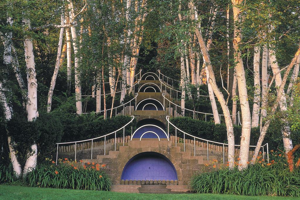 ... Berkshire Gardens  Blue Steps At Naumkeag House And Gardens,  Stockbridge, MA | By