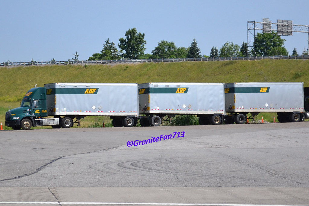 ... ABF Freight Mack Pinnacle with Triples (2) | by Trucks, Buses, &
