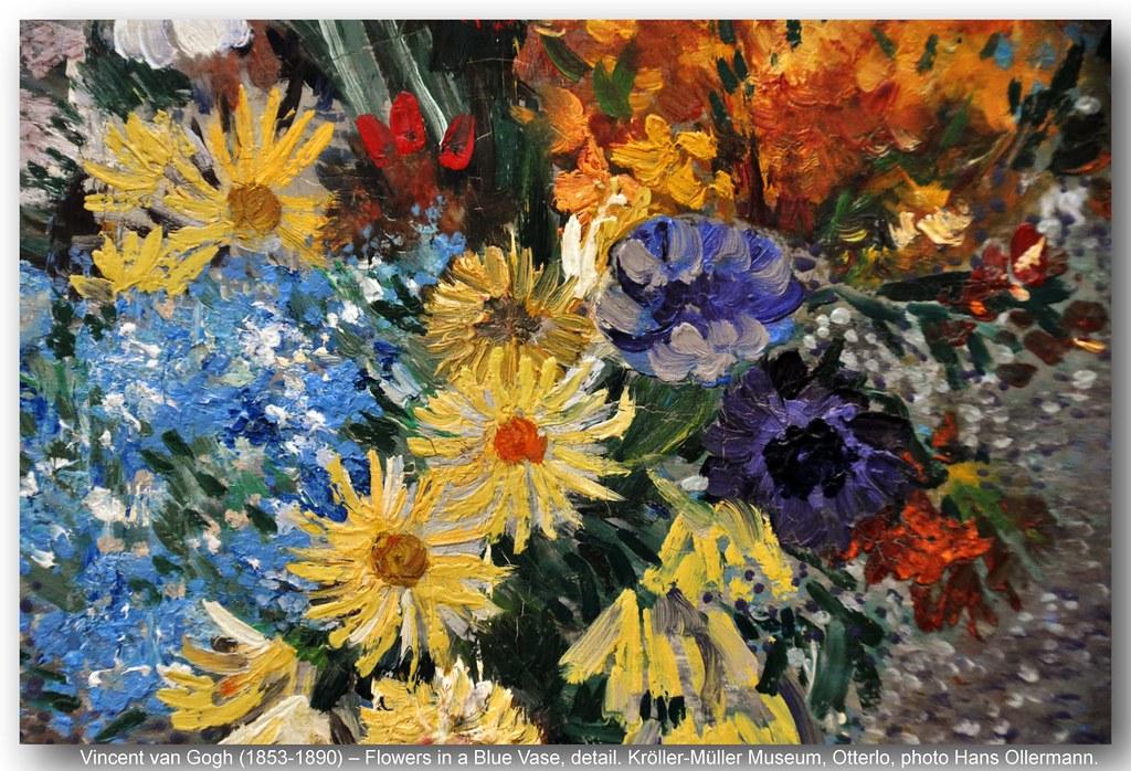 Vincent Van Gogh 1853 1890 Flowers In A Blue Vase Det Flickr