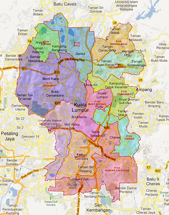 Wilayah Persekutuan Kuala Lumpur Electoral Map Generated B Flickr - kuala lumpur map