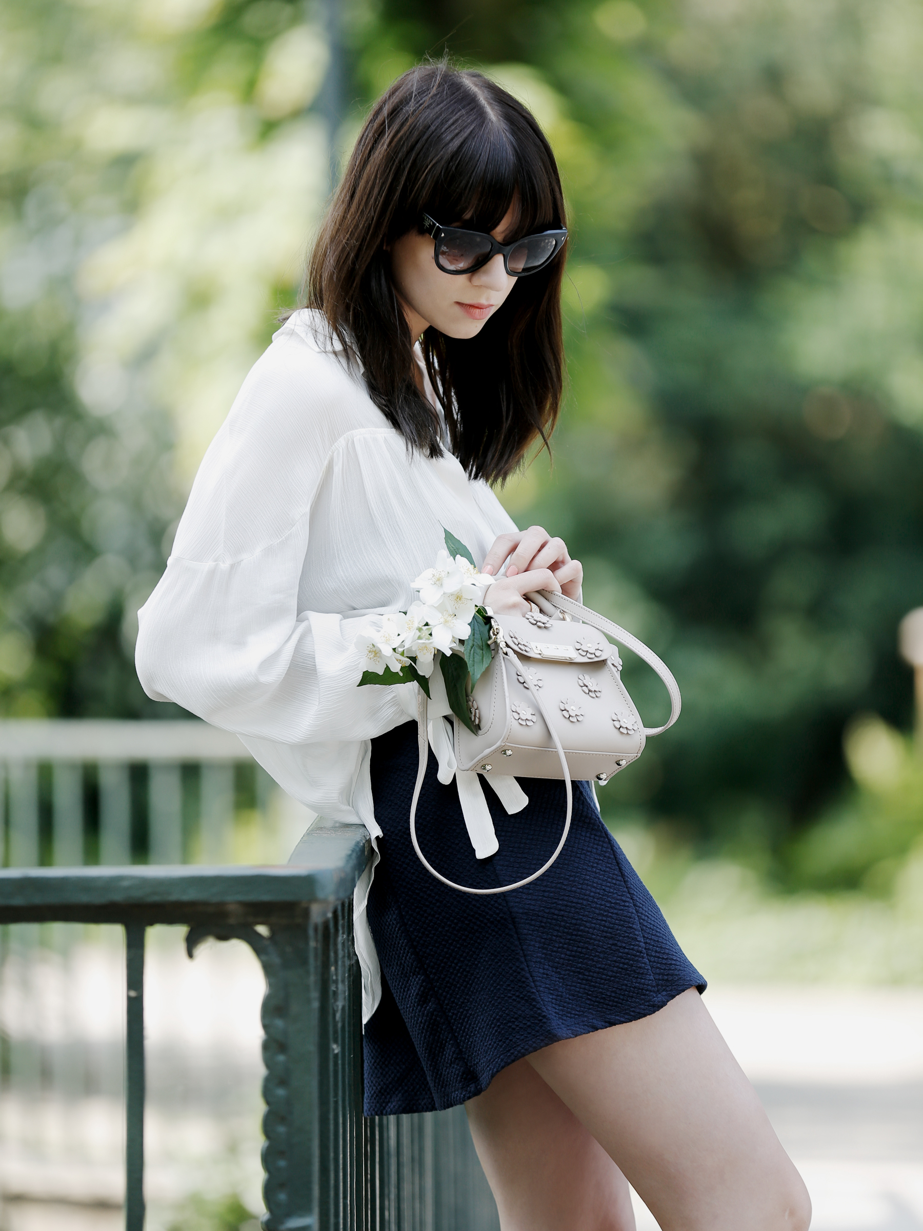 zac posen floral nude handbag designer luxury shopbop gina tricot skirt sailor wide hippie blouse mango white prada sunglasses cats & dogs fashion blog germany ricarda schernus ootd fashionblogger 2