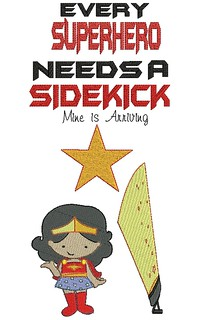 Expecting Sidekick Birth Announcement T Shirt - Every Superhero Needs A Sidekick Big Sister or Brother | by Stitchcottage