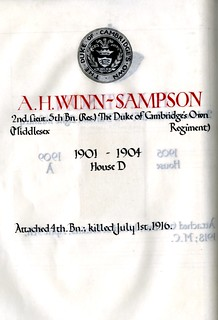 Winn-Sampson, Arthur Henry (1886-1916) | by sherborneschoolarchives