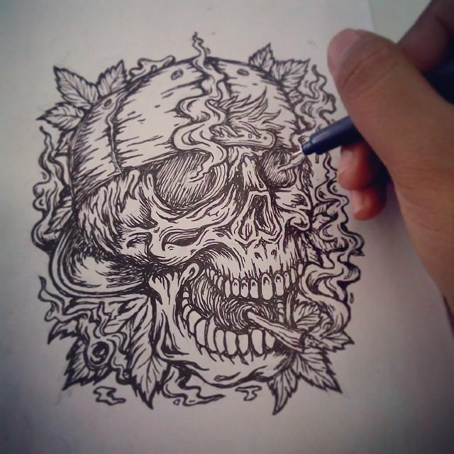 how to draw weed smoke
